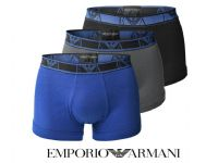 Men's Emporio Armani '3 Pack Trunk' Boxer Shorts (11357-8A715-59520) x3 (Option 1): £16.95